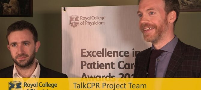 TalkCPR wins 2019 Royal College of Physicians Excellence in Patient Care Award
